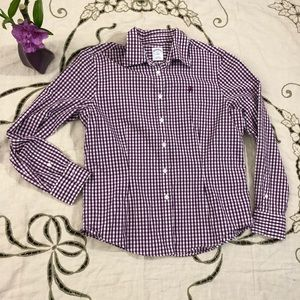 Brooks brother plaid fitted Button Up Shirt